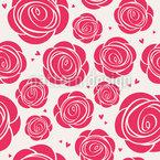 Rosen Und Herzen Nahtloses Vektormuster