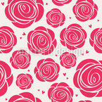 Roses And Hearts Pattern Design