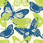 Frühlings Schmetterlinge Nahtloses Vektormuster