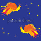 Fabulous Firebird Seamless Vector Pattern Design