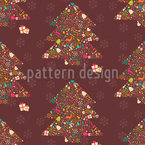Embellished Christmas Trees Seamless Vector Pattern Design