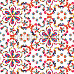 Hippie Vision Seamless Vector Pattern Design