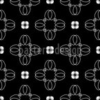 Cross Blossoms Seamless Vector Pattern Design