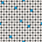 Round Checkered Repeating Pattern
