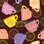 Cup of Tea Seamless Vector Pattern Design