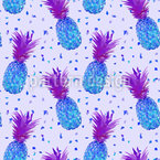 Disco Ananas Nahtloses Vektormuster