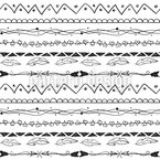 Hand-drawn Borders Seamless Vector Pattern Design
