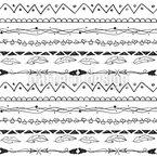 Handgezeichnete Bordüren Nahtloses Vektormuster