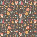 Baby Fuchs Im Wald Rapportiertes Design