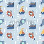 Schiffe und U-Boote Nahtloses Vektormuster