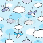 Dream little Aviator Seamless Vector Pattern Design