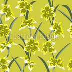 Fresh Daffodils Seamless Vector Pattern Design