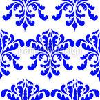 Barocke Blüte Nahtloses Vektormuster