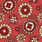 Blumen und Flicken Rapportiertes Design
