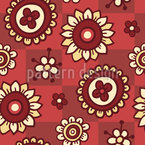 Flowers And Patches Repeating Pattern