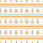 Happy Sailor Vector Pattern