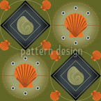 Mitilo Verde Seamless Vector Pattern Design