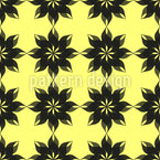 Semitransparent Flowers Seamless Vector Pattern Design