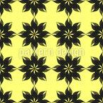 Semitransparente Flores Design de padrão vetorial sem costura
