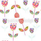 Patchwork Blumen Nahtloses Vektor Muster
