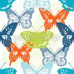Schmetterling Studien Nahtloses Vektormuster