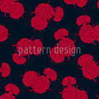 Love Carnations Seamless Vector Pattern Design