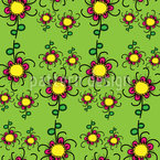 Floral Twist Seamless Vector Pattern Design