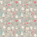 Forest At Christmas Seamless Pattern