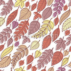 Falling Autumn Leaves Seamless Vector Pattern Design