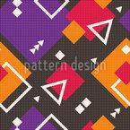 Mosaico geométrico moderno Design de padrão vetorial sem costura