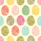 Easter Egg Decoration Seamless Vector Pattern Design