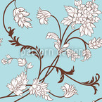 Flower Cirri Seamless Vector Pattern Design