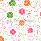 Buttons and Needles Seamless Vector Pattern Design
