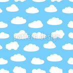 Cloudy Summer Sky Pattern Design