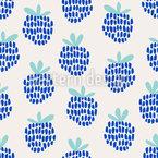 Hand Drawn Blackberries Seamless Vector Pattern