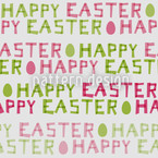 Happy Easter Eggs Repeat Pattern