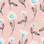 手描きの花 シームレスなベクトルパターン設計