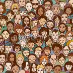 Glückliches Publikum Nahtloses Vektor Muster