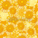 Sunny Blossoms Seamless Vector Pattern Design