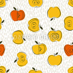 Apple Snack Seamless Vector Pattern Design