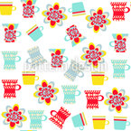 Cute Dishes Seamless Vector Pattern Design