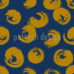 Hand Drawn Round Shapes Seamless Vector Pattern Design