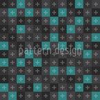 Modernes Schachbrett mit Kreuzen Nahtloses Vektormuster