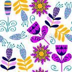 Cute Brigth Flowers Pattern Design