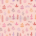 Abstract Leaves Pattern Design