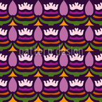 Es Blüht Lila Nahtloses Muster