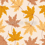 Maple Leaves Seamless Vector Pattern Design