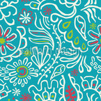 Tropic Flowers Seamless Vector Pattern Design