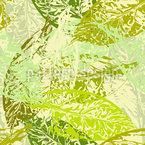 Makro Avocado Blätter Nahtloses Vektormuster
