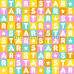 Colourful Star Seamless Vector Pattern Design